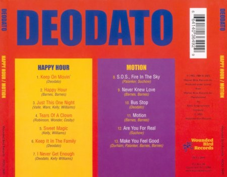 Deodato - Happy Hour / Motion (1982/1985) 2005 Lossless